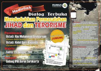 mendudukkan jihad dan terorisme