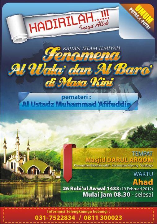 Daurah Fenomena Al Wala' Wal Bara'