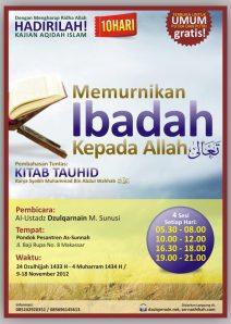 20121109 Daurah Tauhid Makassar 9-18 Nov 2012