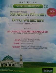 Meneladani Akhlaq Salafush Shalih dan Birrul Walidain
