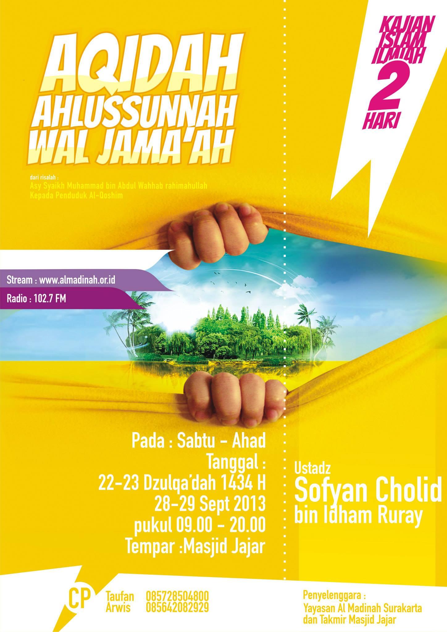 "Daurah Solo: ""Aqidah Ahlus Sunnah Wal Jama'ah"""